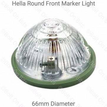 Hella 66mm Round Domed White Marker Light