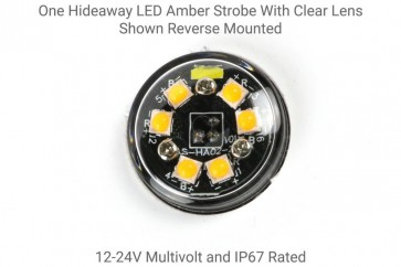 Hidden 6 LED Amber Strobe with Clear Lens - Hidden or Surface Mount Fitting