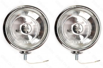 "Pair of RDX Chrome Finish 5"" Classic Style Spotlights"