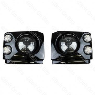 """Disco 1 300Tdi Fronts Clear LED Durite RHD 7"""" LED Headlamps"""