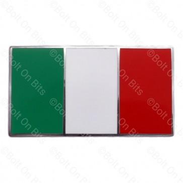 1 Enamel Self Adhesive Flag of Italy il Tricolore Bandiera d'Italia Italian Flag