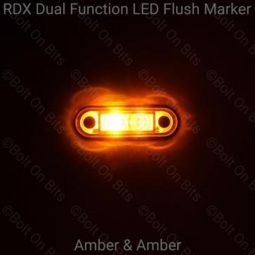 RDX Dual Function Flush Marker: Amber - Amber