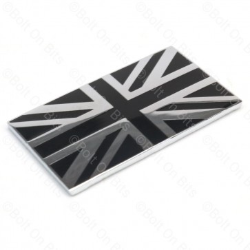 Black & Chrome Union Jack Badge