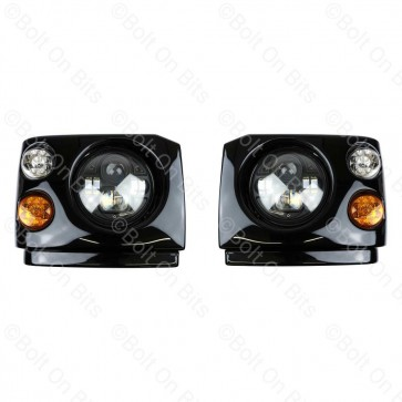 "Disco 1 300Tdi Fronts Britax LED Durite RHD 7"" LED Headlamps"