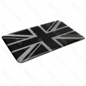 Large Vinyl Black & Silver Union Jack