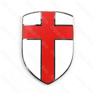 Enamel St Georges Flag Crusader Shield