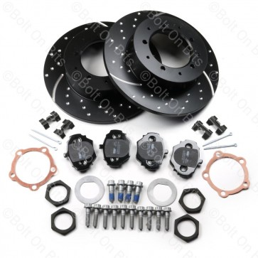 RDX Sport High Performance Rear Brake Disc & Pad Kit Defender 90 1993-2016