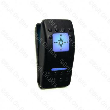 RDX K Switch Blue Compass SatNav  Off On