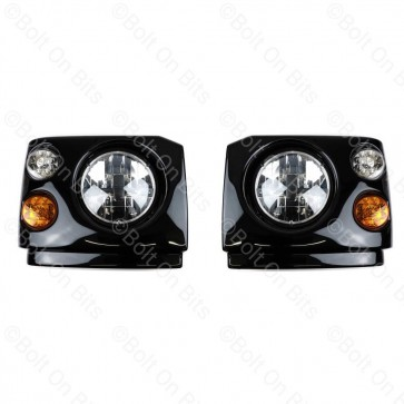 """Disco 1 300Tdi Fronts Britax LED RDX RHD 7"""" LED Headlamps"""