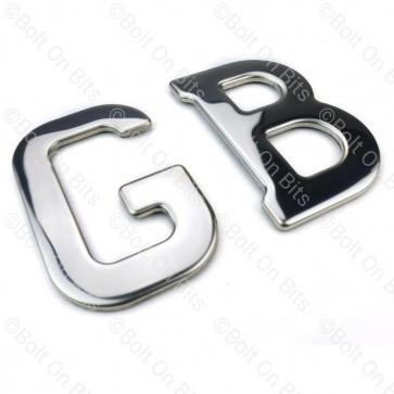 Stainless Steel GB Badge Self Adhesive