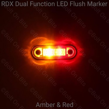 RDX Dual Function Flush Marker: Amber - Red