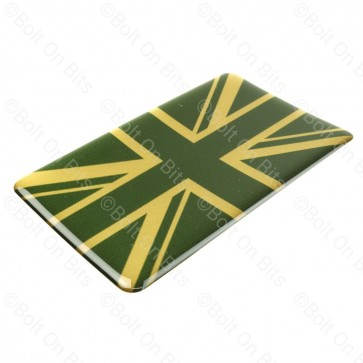 Large Vinyl Green & Gold Union Jack