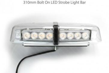 1 RDX 310mm Bolt On LED Strobe Light Bar / Beacon 12V / 24V