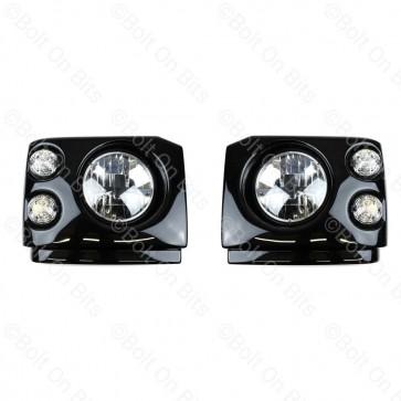 """Disco 1 300Tdi Fronts Clear LED RDX RHD 7"""" LED Headlamps"""