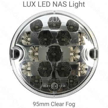 RDX 95mm NAS LED Red Fog Lamp with Clear Lens