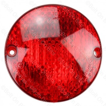 Hella 95mm Round Red Fog Lamp