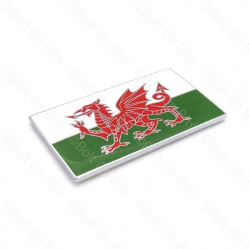 One Enamel Self Adhesive Welsh Flag Badge Baner Cymru Wales Welsh Dragon