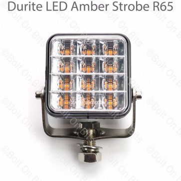 Durite 74mm 12 x LED Amber/Orange Strobe Warning Light ECE RC65