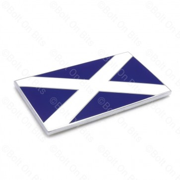 1 Enamel Self Adhesive Scottish Flag Badges Scotland St Andrew's Cross Saltire