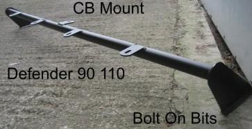 Defender 4 Spot Roof Bar & CB Mount