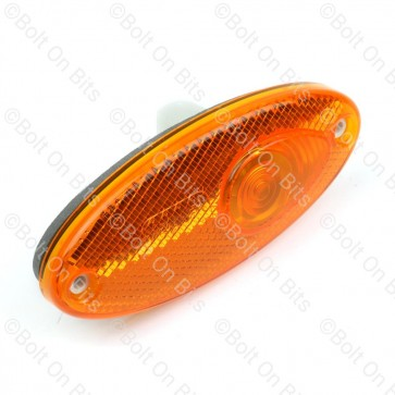 Hella Amber Oval Side Repeater with reflector