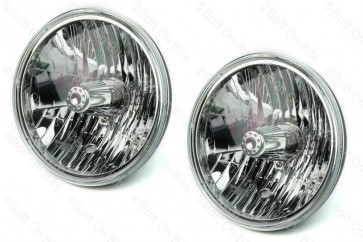 "Pair of WIPAC 7"" SVX Crystal RHD Headlights - No Sidelight"