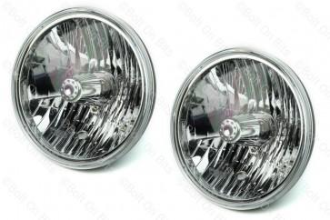 "Pair of WIPAC 7"" SVX Crystal RHD Headlights - No Sidelight"