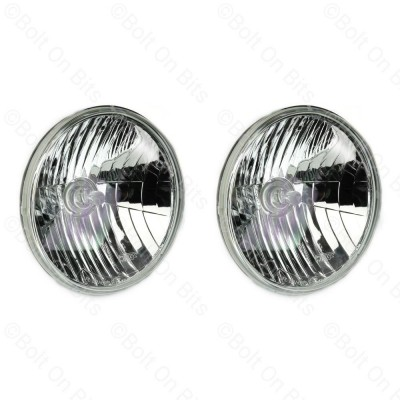 "Pair of Wipac 7"" Crystal/Freeform Halogen Headlamps."