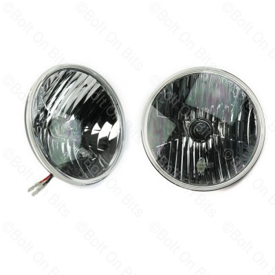 "Pair of Wipac Crystal 7"" Headlights with Side Light"