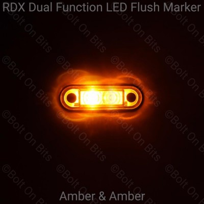 RDX Dual Function Flush Marker: Amber - Amber