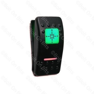 RDX K Switch Green Compass Sat Nav  Off On