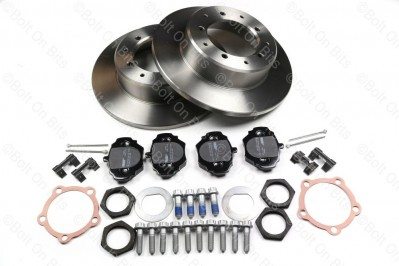 RDX Street Spec Rear Brake Disc & Pad Kit Defender 90 1993-2016