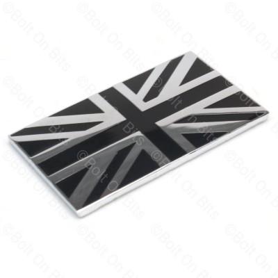 Black & Chrome Union Jack Badge