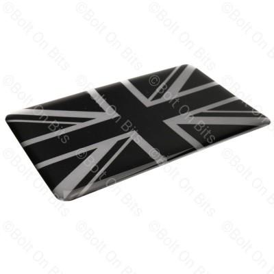 Large Vinyl Black & Silver Union Jack