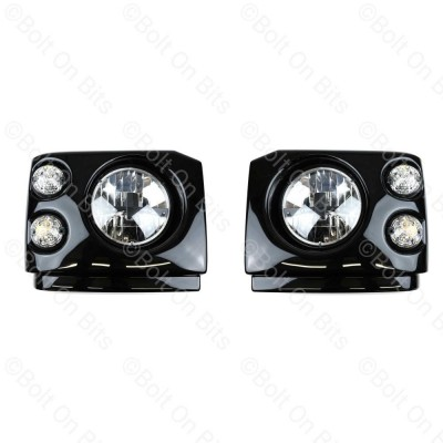 """Disco 2 Pre Facelift Fronts Clear LED RDX RHD 7"""" LED Headlamps"""