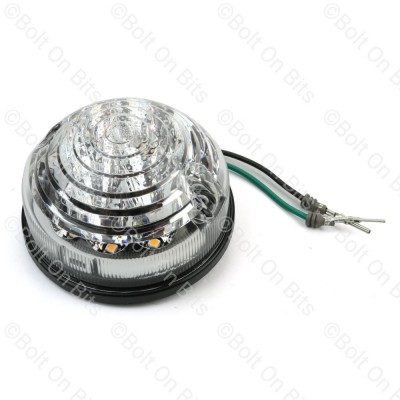 RDX 73mm LSL LED Clear Indicator 12-24V