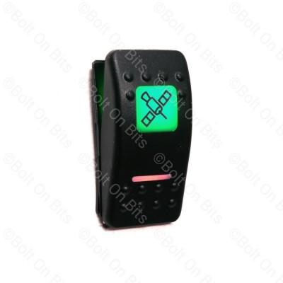 RDX K Switch Green GPS Satellite Sat Nav  Off On