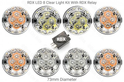 RDX LED Light Kit 8 Clear Lamps with RDX Relay