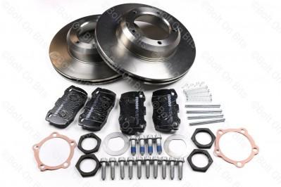 RDX Road Spec Vented Front Brake Disc & Pad Kit Defender 1993-2016