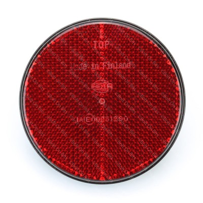 HELLA 85mm Round Red Bolt On Reflector