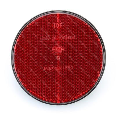 HELLA 85mm Round Red Bolt On Reflector