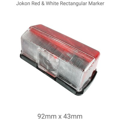Jokon Red & White Rectangular Marker Light