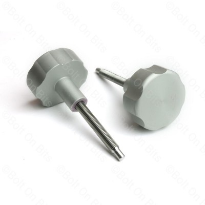 Pair of RDX Silver Anodised Alloy Fusebox Knobs