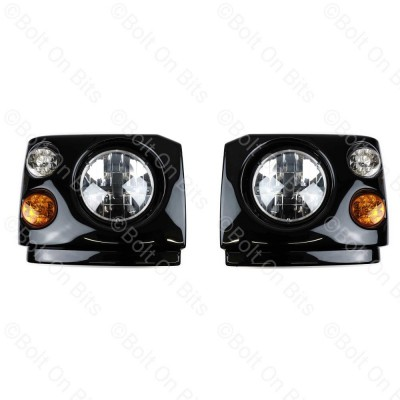"Disco 1 300Tdi Fronts Britax LED RDX RHD 7"" LED Headlamps"