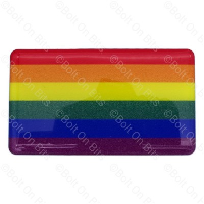 Large Vinyl/Resin LGBTQ Rainbow Gay Pride Flag Sticker