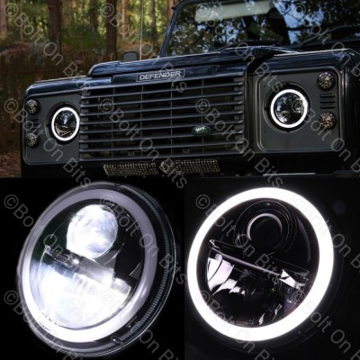 Wipac LED RHD Black Halo Headlamp
