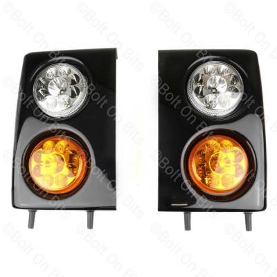 RDX Range Rover Classic Gloss Black Front LED Light Pods