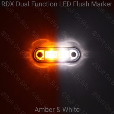 RDX Dual Function Flush Marker: Amber - White