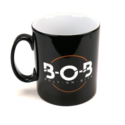 Bolt On Bits Ceramic BOB Mug for Coffee Tea or other drinks. Makes a Nice Pen Pot