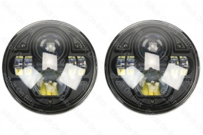 Pair of Durite LED RHD Head Lamps E Marked Legal Defender 90 110 Bug Eye